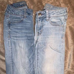 AE skinny jeans set